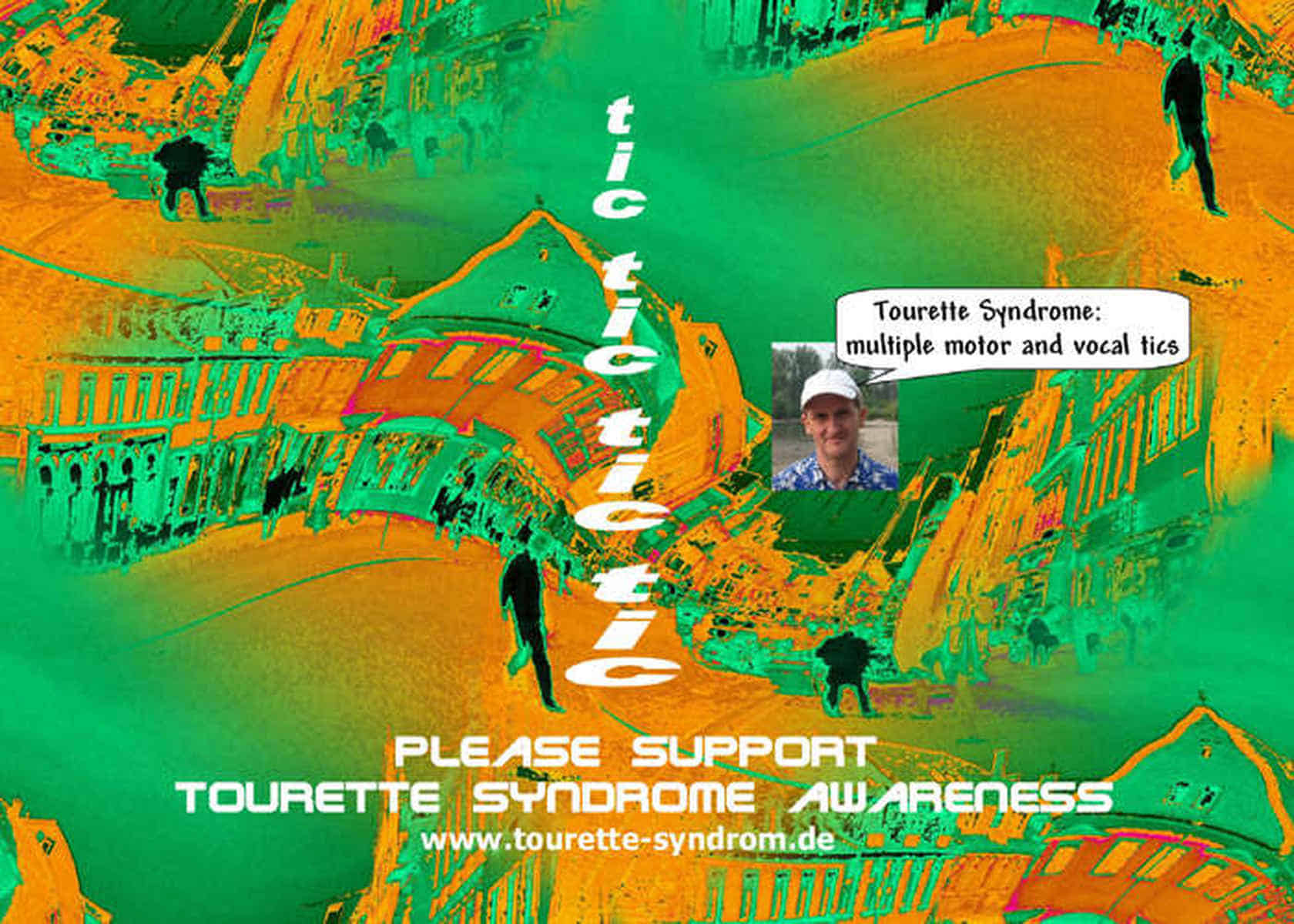 Grafik: Postkarte 02: Please Support Tourette Syndrome Awareness.